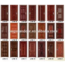 Puerta de acero moderna puertas de hierro de diseño para la casa