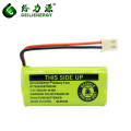 2.4V 300mAh NI MH AAA Rechargeable Battery Packs For Cordless Phone