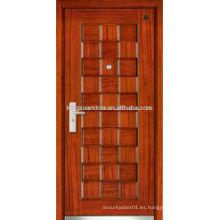 Puerta blindada de madera de acero Swing