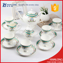 light blue royal bone china coffee tea sets for wedding and gift