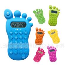 8 chiffres calculatrice de cadeau en forme de pied avec différentes couleurs facultatives (LC517A)