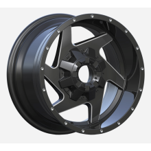 6 Speichen Pick Up Wheel 8x165 Flat Black