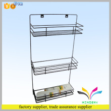 China supplier hot seling high quality durable 3 tiers metal corner wall mounted bathroom ceramic shelf