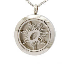 Fashion Solid back silver Stainless Steel Essential Oil Diffuser Locket Jewelry