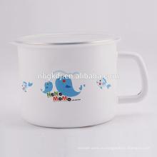 Эмаль молоко и чай кружки с крышкой СС края