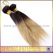 Großhandel, 3 Bündel zwei Ton 100 % billige indische Haar Weben