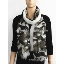 Camouflage Print Rayon Scarf