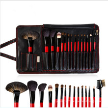 High Quality Synthetic Hair Wood Handle 15PCS Cosmetic Brush Set