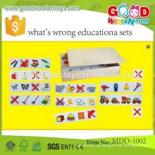 Encontre-o jogos versão original- termina verde OEM encontra-o jogos versão infantil - vermelho termina o que há de errado conjuntos educacionais MDD-1002