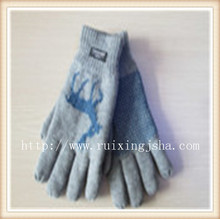 Schneeflocke Jacquard gestrickt Herren Handschuhe
