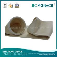 Saco de filtro de Nomex do sistema da extração de poeira da planta de aço