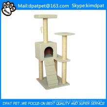 Scratcher gato divertida com brinquedo Swing atacado Indoor Cat Furniture