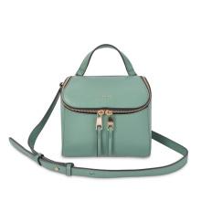 Leder-Mini-Rucksack mit doppelt verstellbarem Schultergurt
