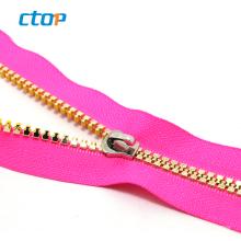 5# colored teeth plastic zipper Best-Selling Jacket Zipper Open End #5 Molded Plastic Medium Weightfor bag