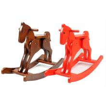 Fábrica de suministro de caballo mecedora caballo de madera de juguete de madera