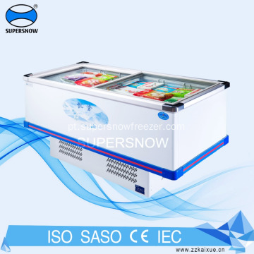 freezer de vidro para display de carnes e delicatessen