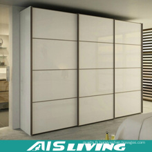 Armoire en MDF en mélamine en armoire en verre pour portes coulissantes (AIS-W017)