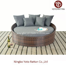 Steel Small Daybed with PE Rattan for Outdoor (1214)