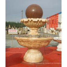 Fuente de la bola del jardín para la fuente de agua de mármol de piedra del granito (SF-B098)