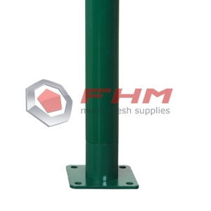 Round Post dengan PVC Coated Galvanized Metal