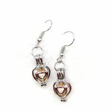 Locket Charm Dangle Earring para Mulheres Girl Gift