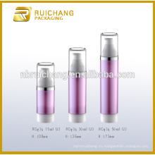 Botella airless de 15ml / 30ml / 50ml, botella sintética cosmética de la loción, botella cosmética de la bomba del tubo doble