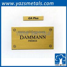 Customizelabels, etiquetas personalizadas de placa de nome de nome de metal de alta qualidade