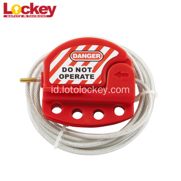 Bahan ABS Disesuaikan Baja Adjustable Kabel Lockout