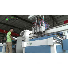 1300*2500mm pneumatic atc 4 spindle cnc router wood cutting machine price