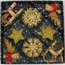 Enfeites De Árvore De Natal Dourada