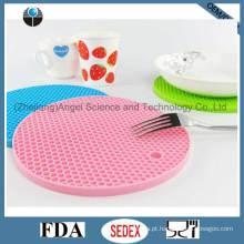 Placa de copo de silicone mais grossa resistente ao calor, Coaster de silicone Sm09