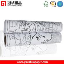 Rouleau de papier imprimé SGS Factory 80 GSM