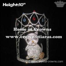 10in Height Crystal Cat Custom Pageant Crowns