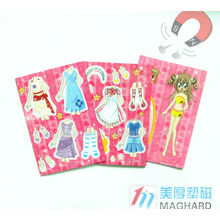 DIY dress-up magnet toy and magnet puzzles