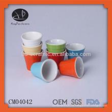 Keramik italienische Kaffeetasse, Mini-Kaffeetasse ohne Griff