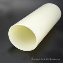 Tuyau rigide en plastique dur coloré ABS beige de grande taille