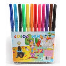 Venda quente de ponta de feltro com conjunto de canetas de cor água 12 PCS
