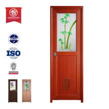 Fireproof discolor durabilidade da China top ten vendendo produtos Madeira Plastic Porta de entrada composta