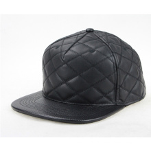 Personalizar Faux Leather Brim Hat Snapback Cap