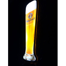 Paulaner led botella display 4C serigrafiado
