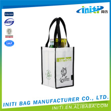 Wholesale Fashion customized size packaging bag non woven wine bag