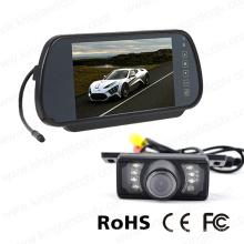 Monitor del espejo retrovisor de 7inches con la cámara de reserva de la placa del IR