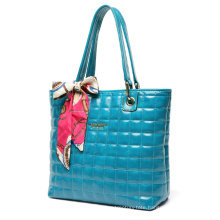 Exclusive Collection, Women′s Two Tone PU Leather Double Diamond Quilted Satchel Handbag (ZX10090)