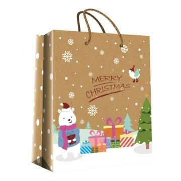 CHRISTMAS SERIES KRAFT GIFTBAG42-0