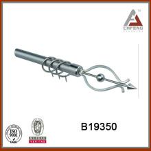 B19350 home decor hardware,wrought iron curtain rod finials,double single rail curtain accessories