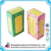 Custom varnishing eco-friendly handmade soap packaging box