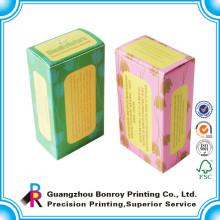 Envernizamento personalizado eco caixa de embalagem de sabão artesanal