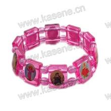 Farbiges Edelstahl Rosenkranz Armband, Saint Armband
