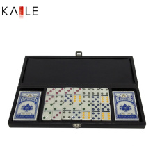 Popular 2 in 1 Game Set with Luxury Leather Box