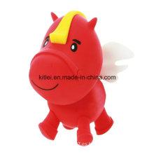 Caballo encantador Saltar Soft Stress Navidad regalo de plástico de vinilo de juguete